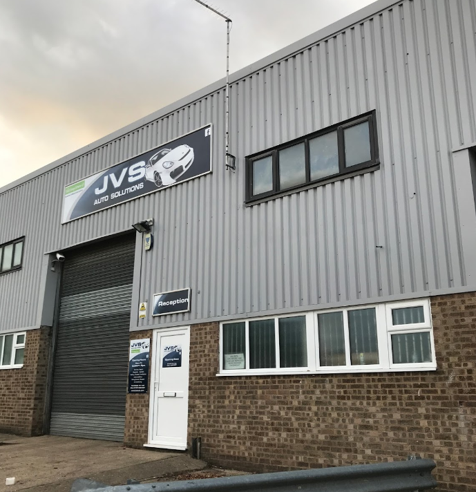 Front of JVS Auto Solutions - Servicing & Repairs Rushden